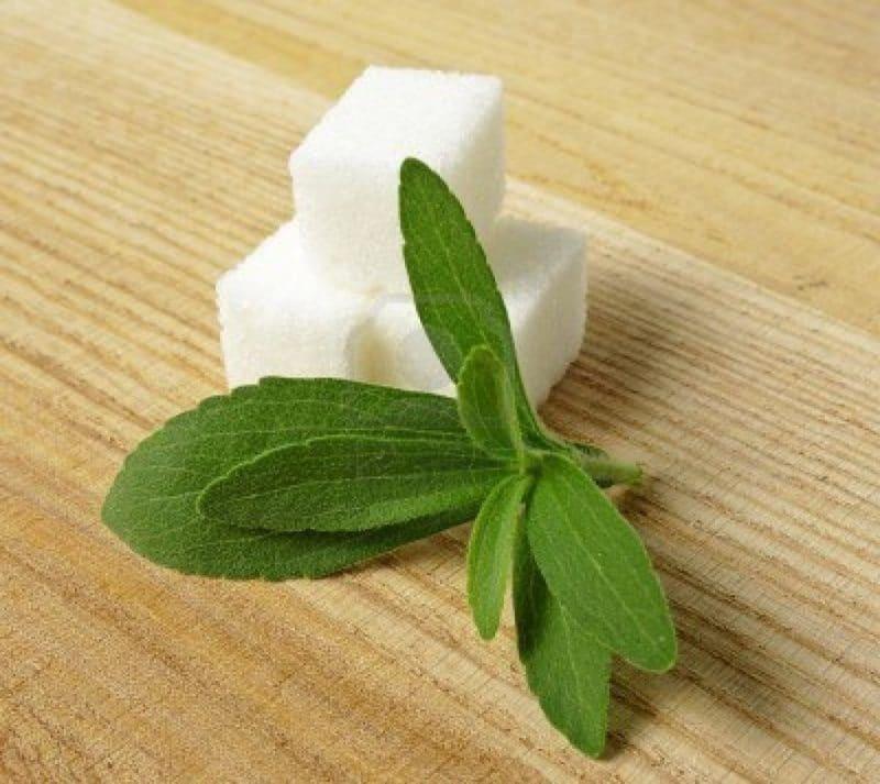 endulzar con hojas de stevia